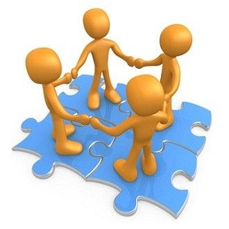 Boss clipart bad leader. Teamwork puzzle free images