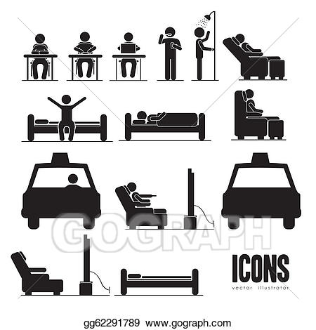 Activities clipart vector. Eps illustration everyday gg