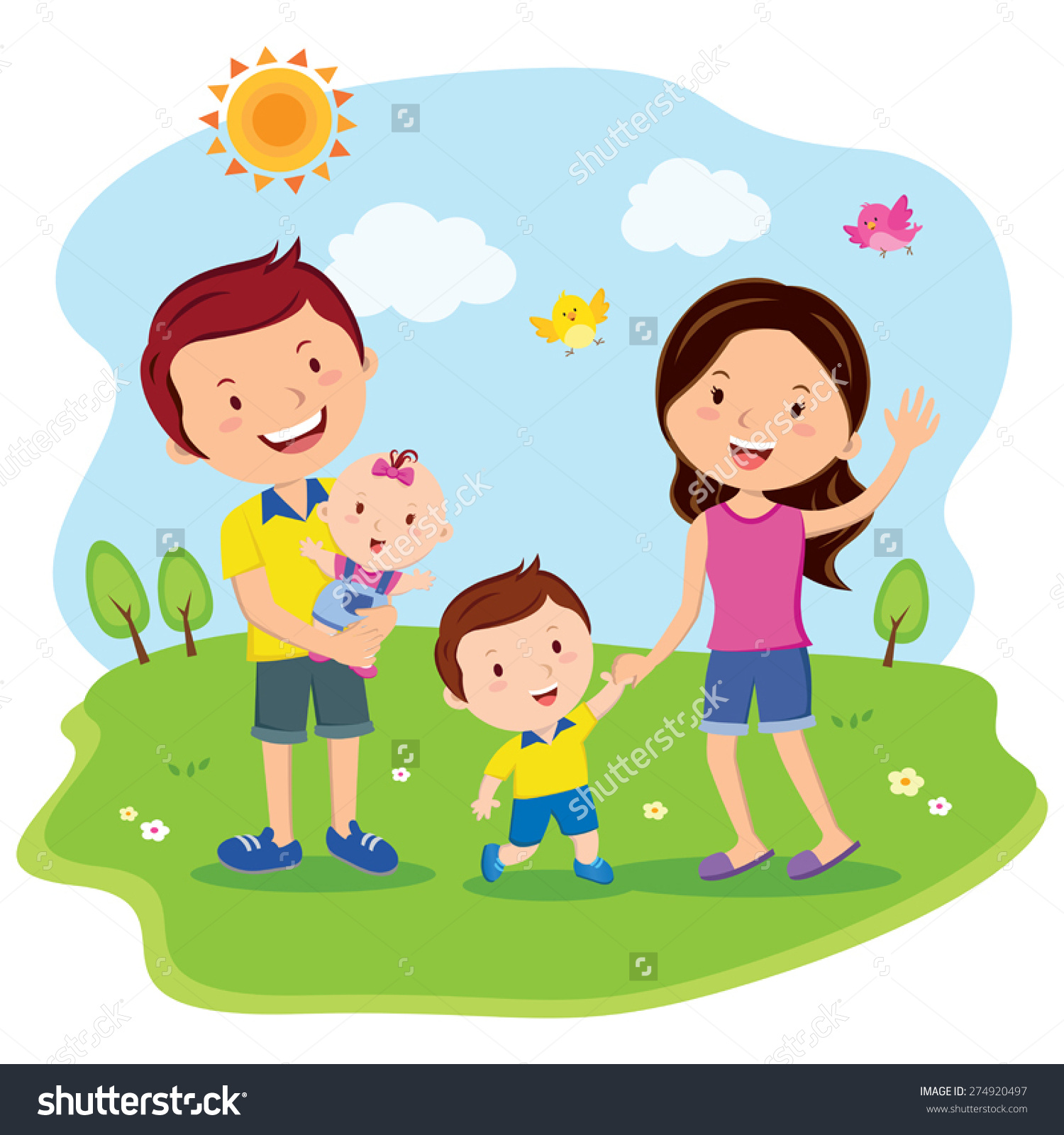 collection of family. Activities clipart vector