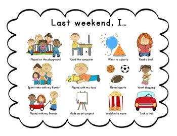 Chart . Activities clipart weekend