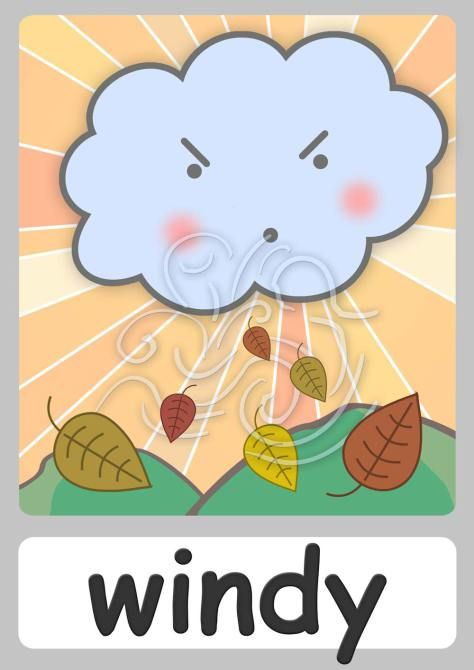 Activities clipart windy. Flashcard weather pinterest and