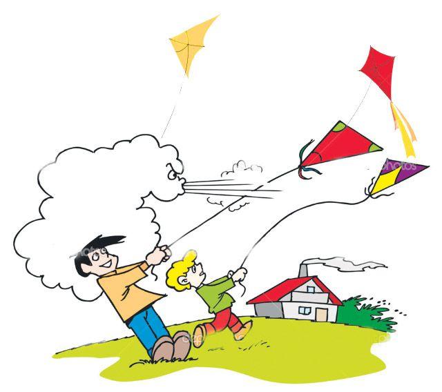 Windy clipart season windy. Wind day background in