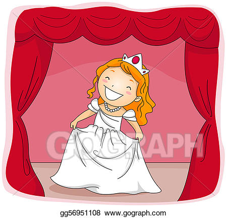 Stock illustration actress drawing. Acting clipart stage clipart