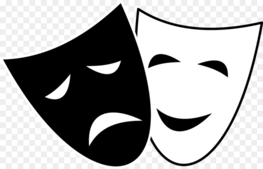 Actor clipart actor mask. Drama theatre comedy tragedy