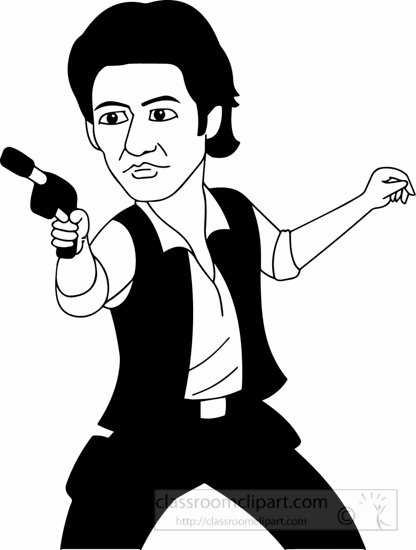 Actor clipart cartoon. Occupations black white classroom