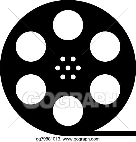 Actor clipart documentary. Eps illustration black film