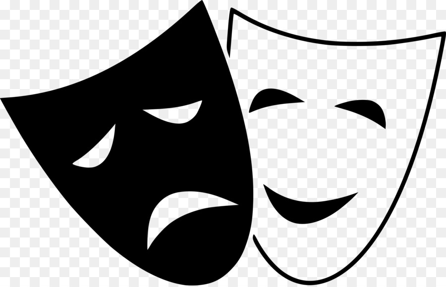 Actor clipart drama. Tragedy mask theatre comedy