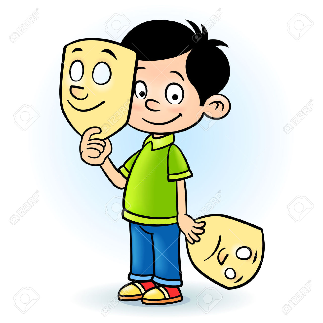 collection of children. Actor clipart dramatization