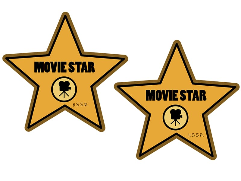 Hollywood actor reading . Film clipart movie star
