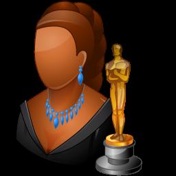 Actor clipart female actor. Occupations dark icon vista