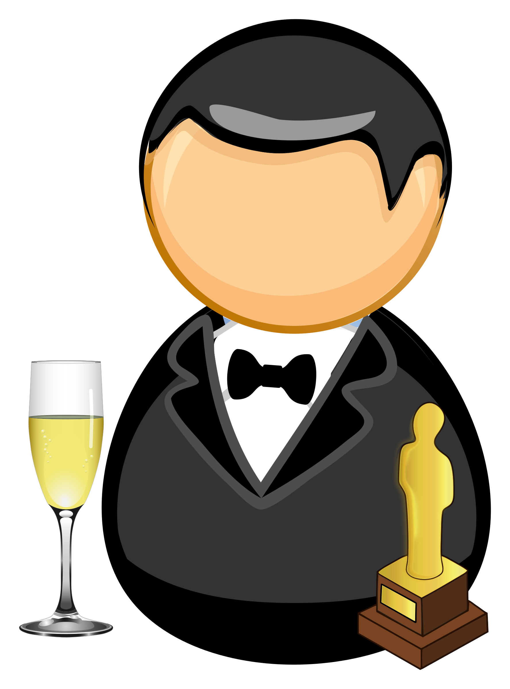 Writer clipart personal narrative. Movie star actor big