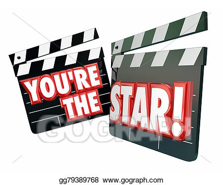 You re the star. Actor clipart movie actor
