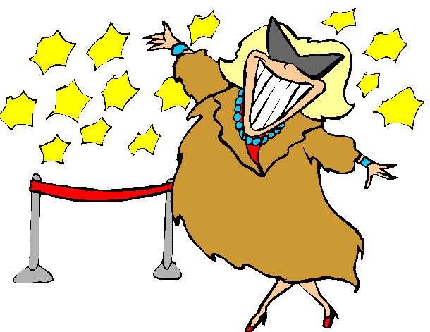 collection of famous. Actor clipart movie star