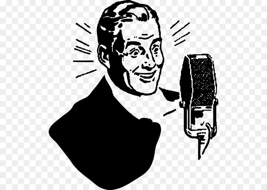 Actor clipart radio. Cartoon microphone