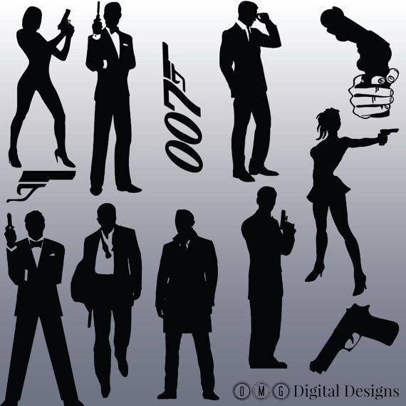 james bond images. Actor clipart silhouette