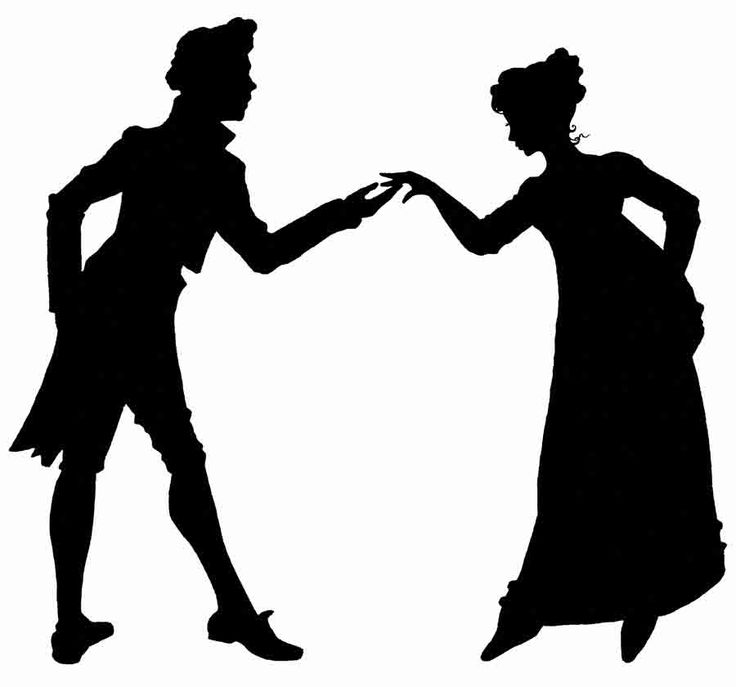 Actor clipart silhouette.  best regency silhouettes