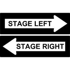 tell tale signs. Actor clipart stage direction