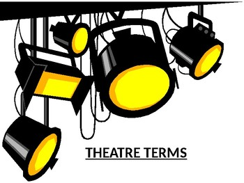 Actor clipart stage direction. Theatre terms and powerpoint
