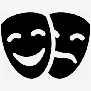 Actor clipart theater actor. Theatre symbol masks transparent