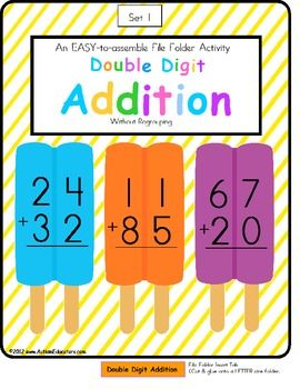Addition clipart 1st grade math. Free file folder game