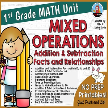Addition clipart 1st grade math. First unit mixed operations