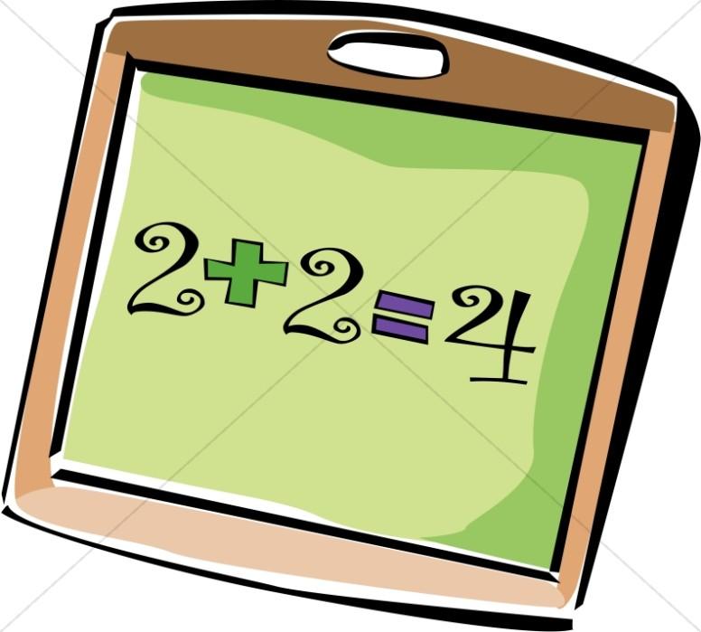 Addition clipart. Chalkboard christian classroom