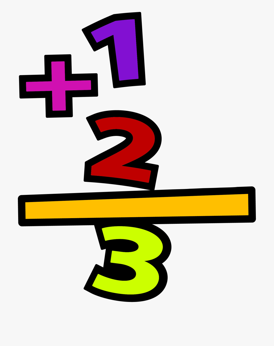 Addition clipart. Transparent background math