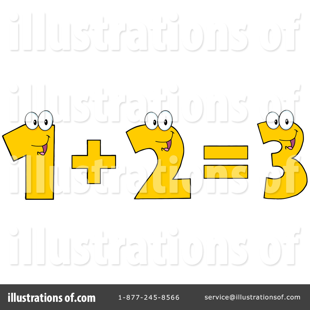 Addition clipart addition equation. Illustration by hit toon