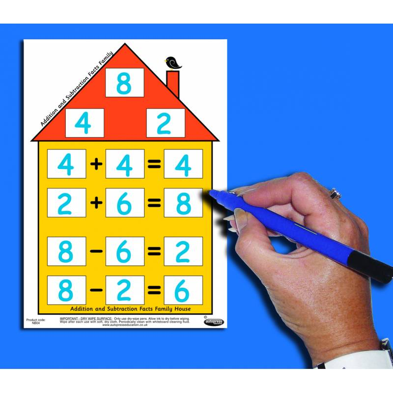 Number facts house and. Addition clipart addition fact