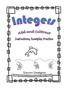 Addition clipart addition integer. Worksheet intro to adding