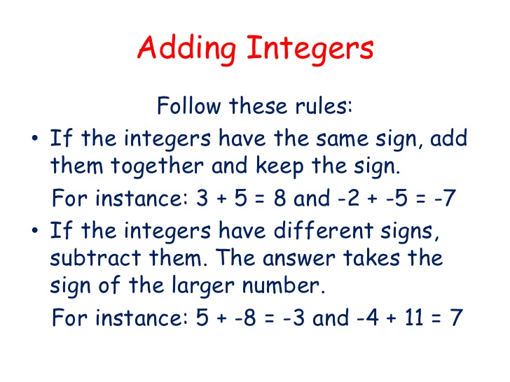 Addition clipart addition integer. Adding subtracting multiplying and