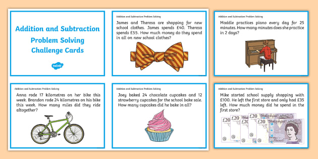Addition clipart addition problem. And subtraction solving challenge