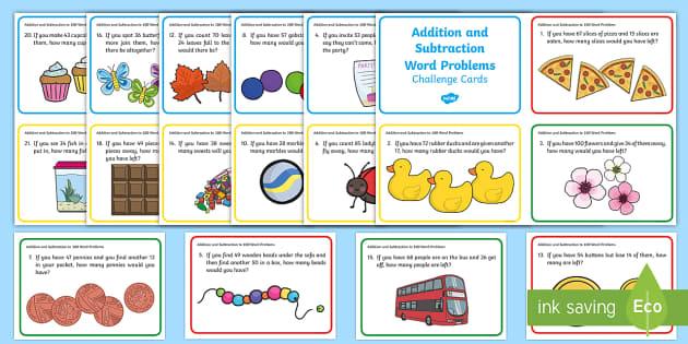 Addition clipart addition problem. And subtraction to word