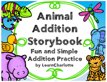 Addition clipart addition problem. Word practice animal storybook