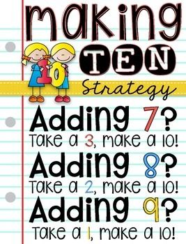Addition clipart addition strategy. Making ten for adding