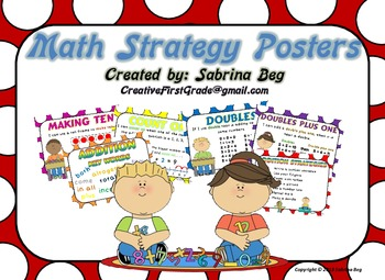 Addition clipart addition strategy. Math strategies posters by