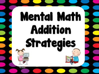 Addition clipart addition strategy. Mental math strategies posters
