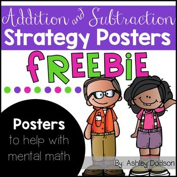 Mental math posters super. Addition clipart addition strategy