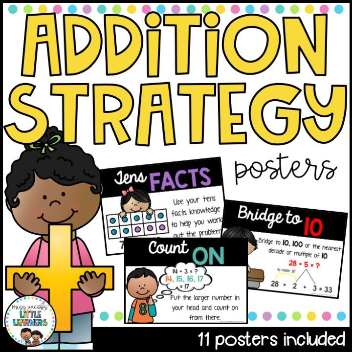 Teaching strategies to your. Addition clipart addition strategy