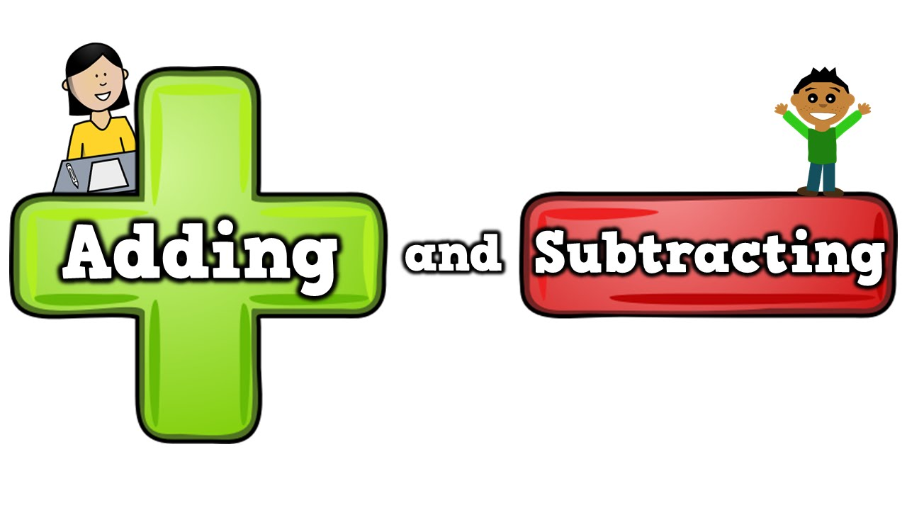 Adding and subtracting song. Addition clipart addition subtraction