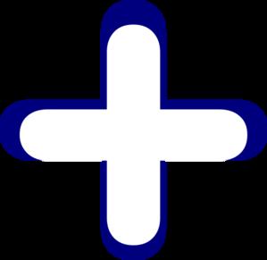 White and blue clip. Addition clipart addition symbol
