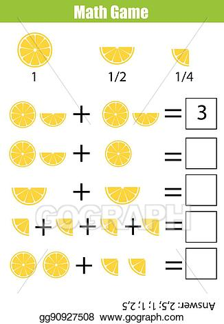 Addition clipart addition worksheet. Vector math educational counting