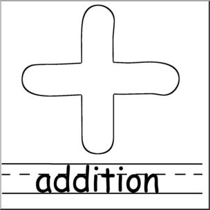 Clip art math symbols. Addition clipart black and white