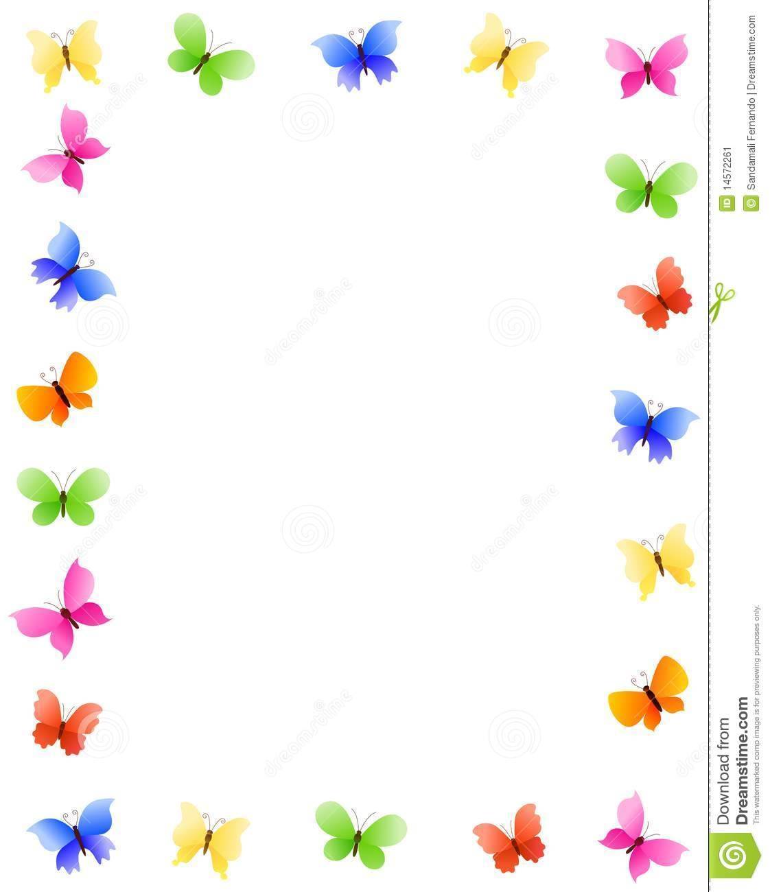 Addition clipart border. Butterfly station
