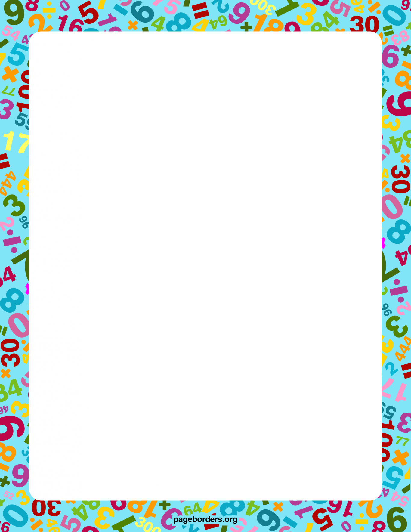 Colourful triangles number five. Addition clipart border