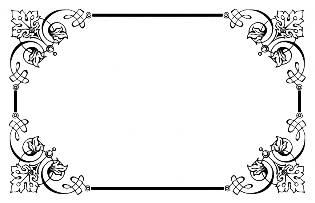 Addition clipart border. Vintage borders free images