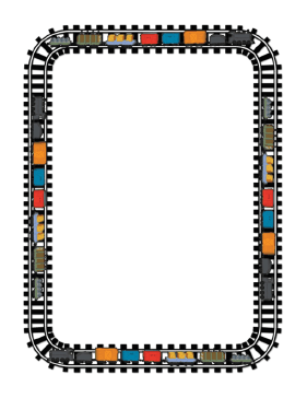 This train features colorful. Addition clipart border