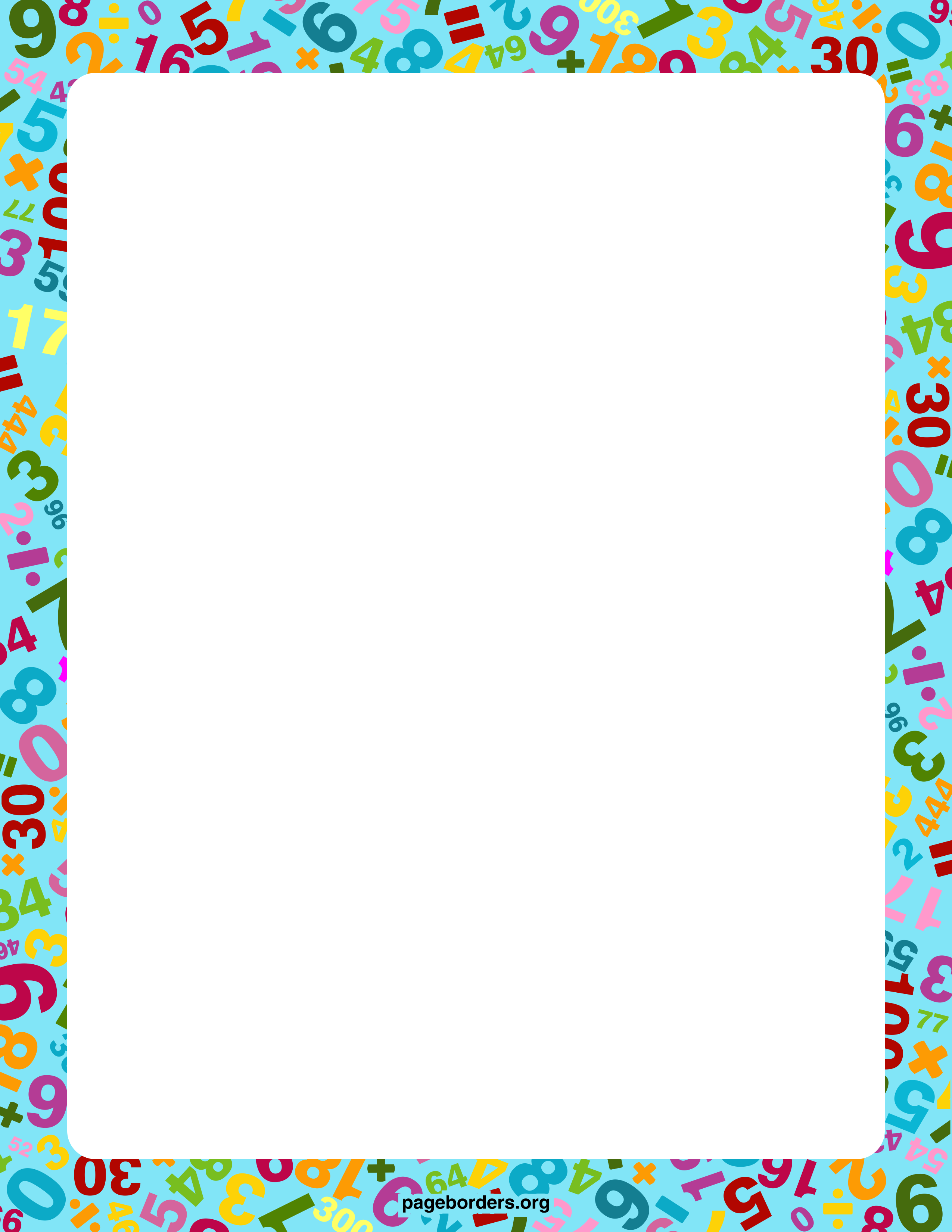 Addition clipart border. Math free cliparts that