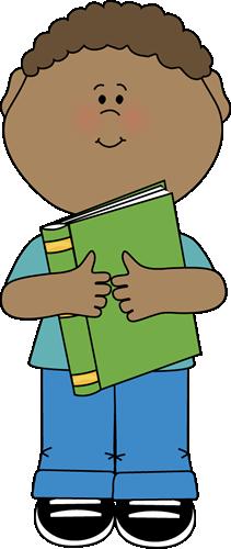 Little hugging a book. Addition clipart boy