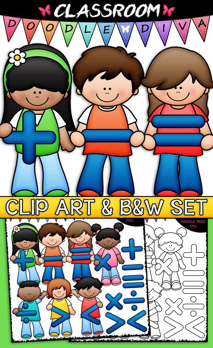 Addition clipart boy. Math symbols kids clip